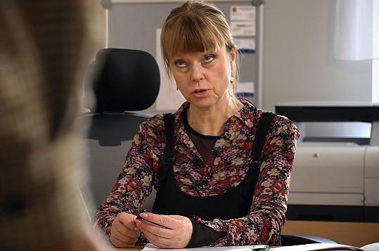 Lenka Kořínková v seriálu Stopy života
