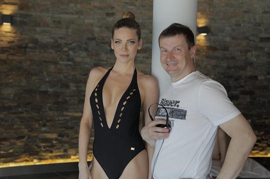 Andrea Verešová s Radkem Balašem, pro kterého je Špindl 2 filmovým režijním debutem.