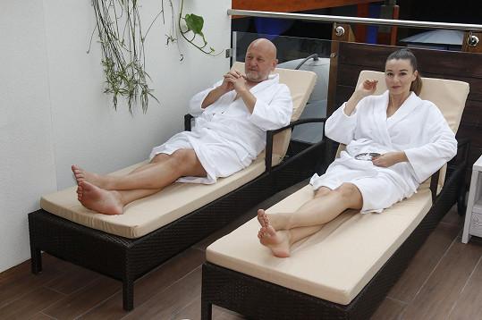 Iva s Jiřím hodně odpočívali.