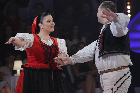 Ve slovenské taneční show Tanec snov měla co dělat, aby udýchala některé tance.