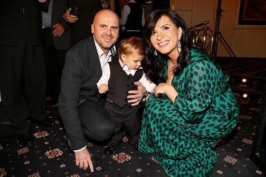 Andrea s manželem a synem