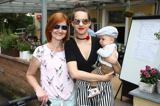 Míša s maminkou a synem Kristiánem