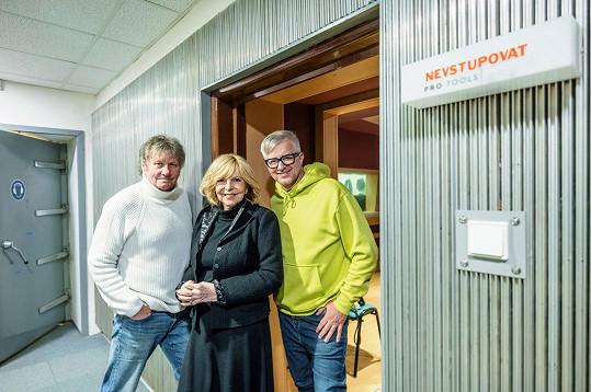 Hana Zagorová, Stanislav Hložek a Petr Kotvald se po letech sešli ve studiu.
