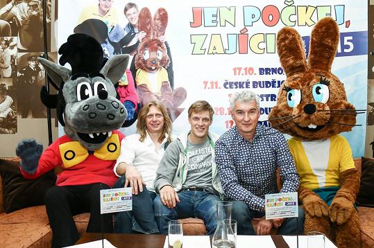 S kolegy z Jen počkej, zajíci! Jozefem Sabovčíkem a Michalem Nesvadbou