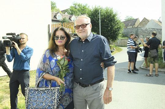 Luděk Sobota s manželkou