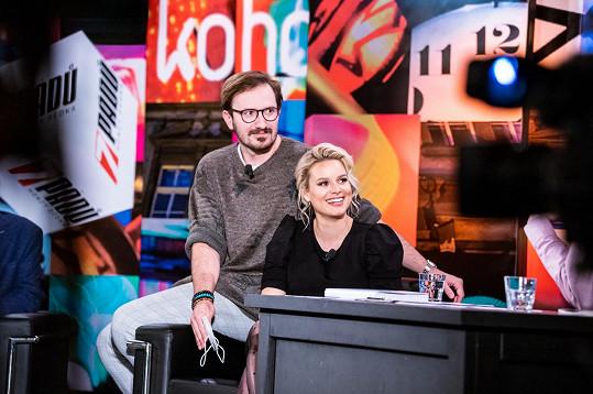 Patricie Pagáčová s manželem Tiborem v talkshow 7 pádů Honzy Dědka.