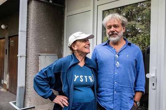 Iva s režisérem Radkem Bajgarem