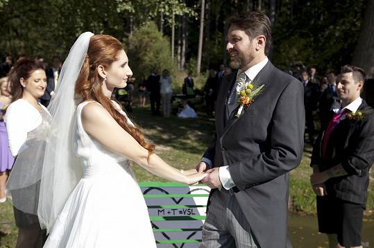 Moderátor Tomáš Hauptvogel se minulý pátek oženil.