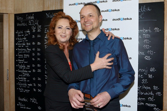 Simona Stašová křtila audioknihu Petra Rajcherta.