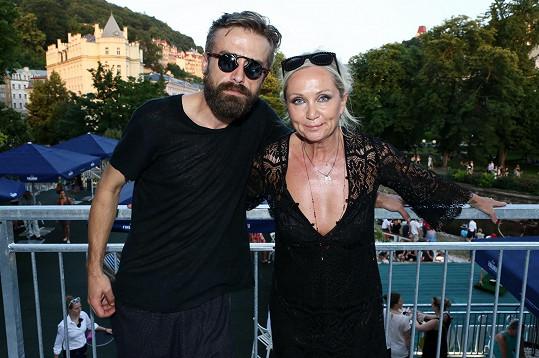 Bára s manželem Petrem Polákem