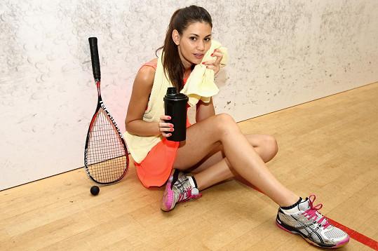 Misska trénuje i squash.