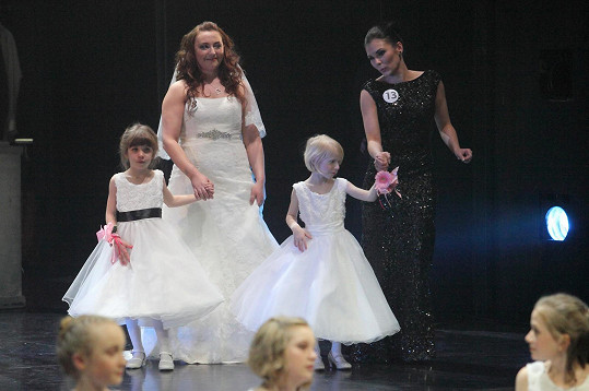 Viktorka na pódiu