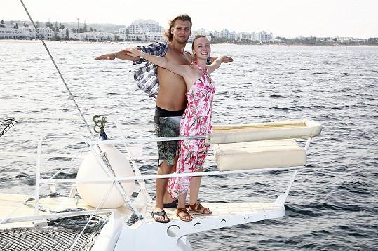 Točilo se i na lodi, kde si Michal s Denise vyzkoušeli scénu z Titaniku.