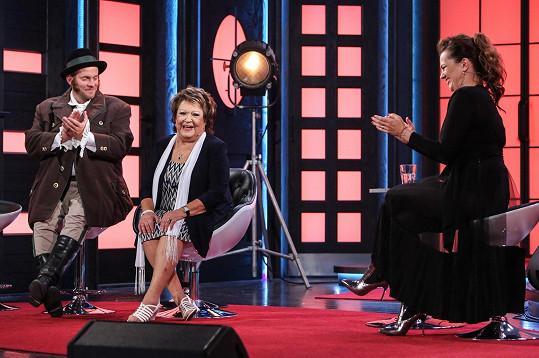 Jiřina byla hostem úterního dílu show Marta.