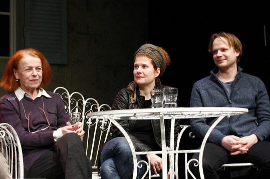 S režisérkou Alicí Nellis a Kryštofem Hádkem, jenž bude hrát jejího tajemníka.