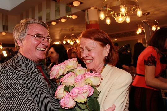 Na večírku Janžurové přáli VIP hosté včetně Vlastimila Harapese.