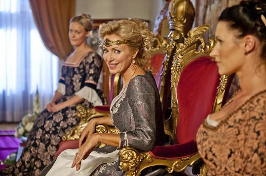 Kateřina si roli královny užila.