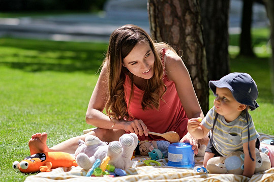Tereza s filmovým dítětem