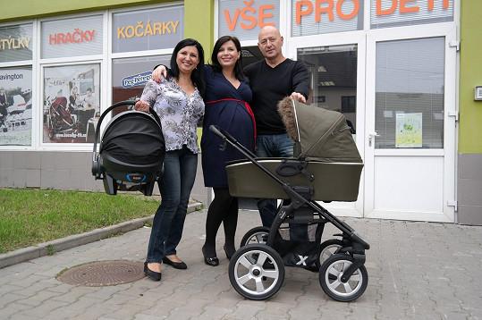 Andrea s rodiči.
