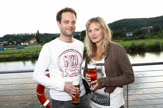 Michaela Badinková s partnerem Janem Teplým