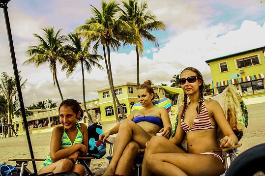 Míša Nosková holky navštívila na Floridě.
