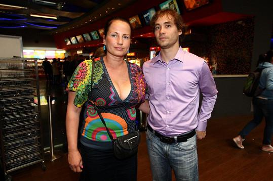 Filip Tomsa s manželkou Evou