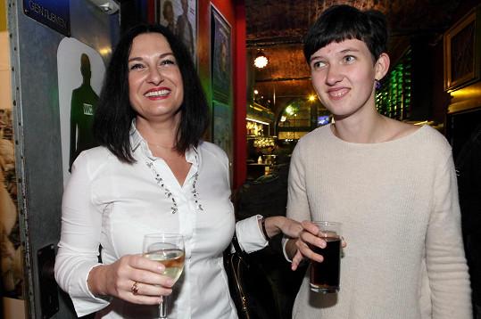 Čejková a její dcera si nenechaly ujít křest nového alba Jiřiny Jandové.