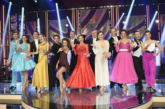 Pátý soutěžní večer tančily páry jive, waltz a quickstep.