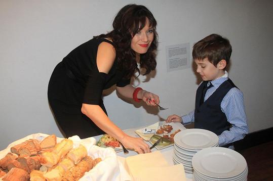 Tereza Kostková má s Kracikem syna Toníka.