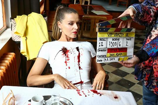 Iva během natáčení