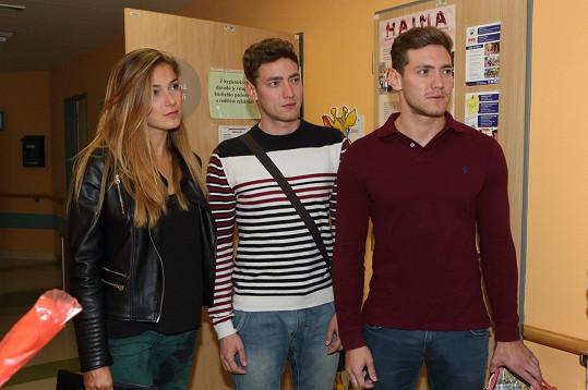 Miroslav Dubovický (vpravo) s bratrem Martinem a Andreou Bezděkovou
