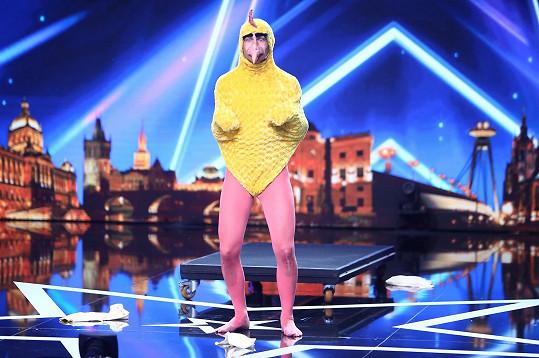 Komik Sethward The Chicken jako kuře
