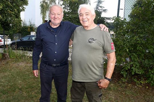 Luděk Sobota a jeho velký kamarád Jiří Krampol