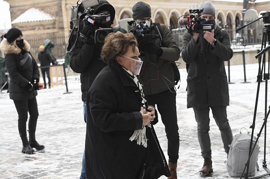 Ze známých osobností dorazila jen Jiřina Bohdalová.