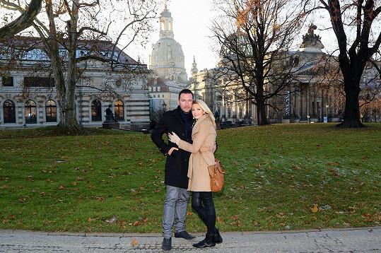 Sandra a Michal na procházce