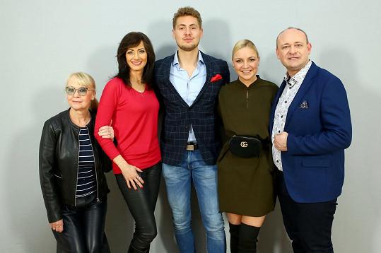 Na castingu nesměl chybět ani loňský vítěz Vojtěch Urban, Daniela Šinkorová a prezident soutěže David Novotný.