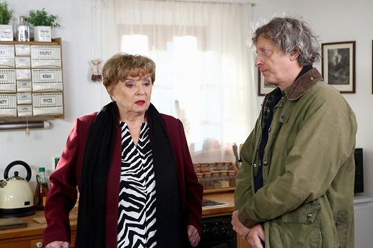 Libuše Švormová a její seriálový syn David Prachař