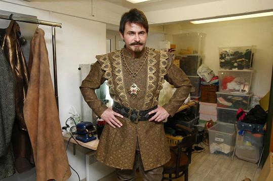 Mirek Šimůnek s bradkou a knírkem