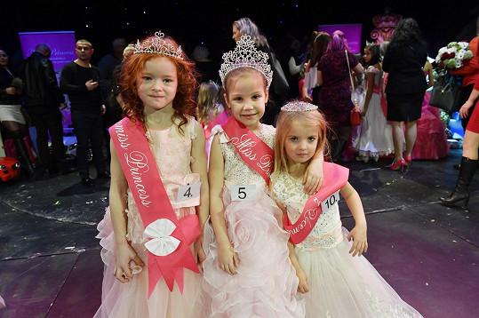 Vítězka Veronika Wojsechová (5 let), druhá skončila Anna Lachmannová (6 let) a třetí se umístila Freya Franzel (4 roky).