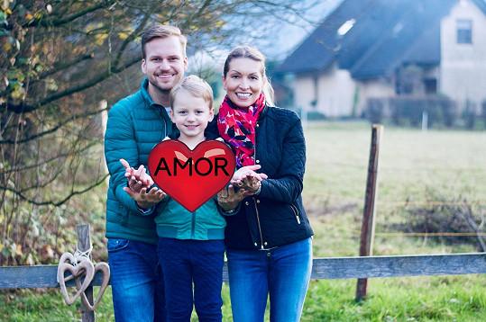 Martin s partnerkou Ivonou a synem Martínkem