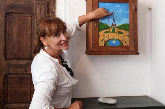 Eiffelovu věž malovala samotná herečka.