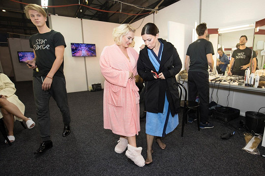 Anna K s Miluší Bittnerovou, která dbala i na teplé obutí...