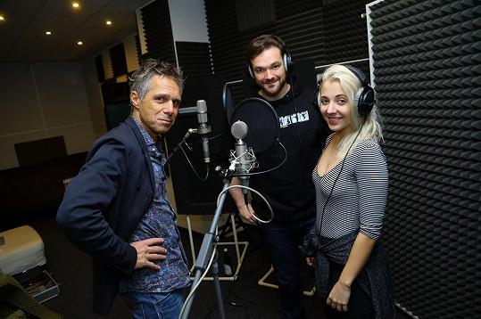 S Jankem Ledeckým a Tomášem Novotným ve studiu