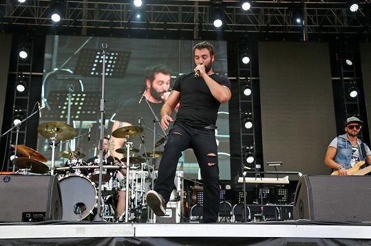Vašek Noid Bárta vystoupil jako předskokan na koncertu Dana Landy.