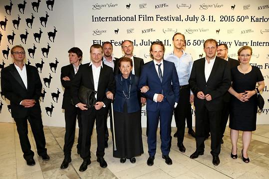 Bratři Hádkovi s delegací filmu Kobry a užovky