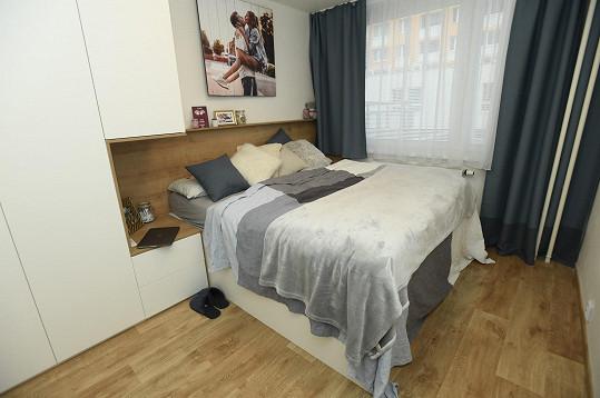 Takhle vypadá ložnice.