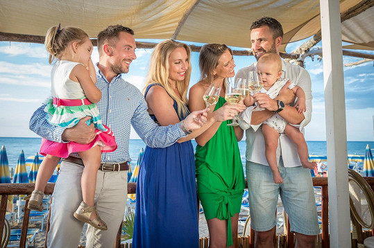 Dvě Michaely z Novy trávily dovolenou s dětmi a partnery v italském Garganu.