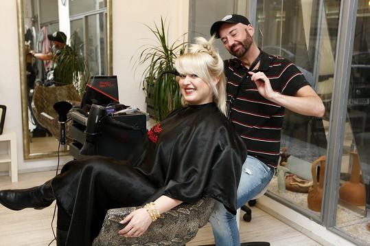 Miluše Bittnerová se svým kadeřníkem Tomášem