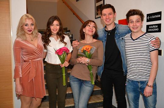 Nelly a Pavel s kolegy Slováčkovou, Dolinovou a Ondřejem