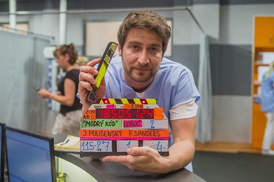 Poslední klapka při natáčení Modrého kódu